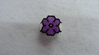 getlinkyoutube.com-Anillo silueta flor peyote impar