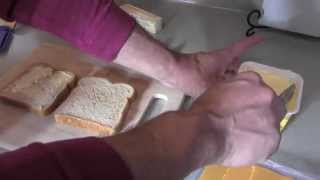 getlinkyoutube.com-Paul Makes Grilled Cheese Sandwich With Shopkins Chee Zee & Bread Head