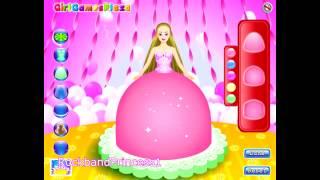 getlinkyoutube.com-Barbie Cake Game - Barbie Cake Decorating Games
