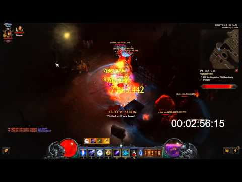 Diablo 3 ROS: 4 Minute Speed T1 Rift Wizard Fast Legenday/Shards