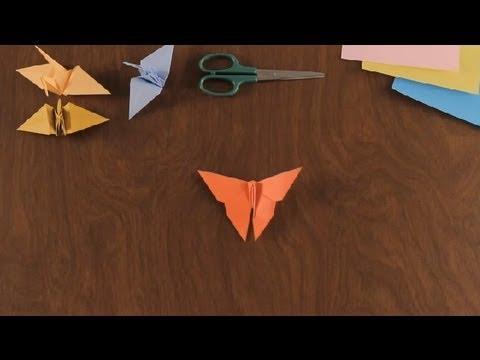 Como Hacer una Mariposa en Origami : Figuras Basicas en Origami
