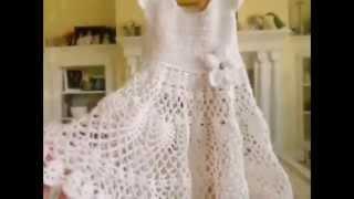 getlinkyoutube.com-How to Crochet a Girl's Toddler Baby Doily Dress