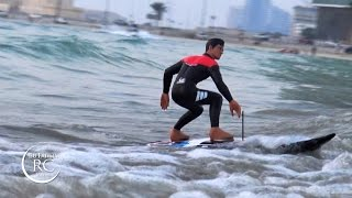 getlinkyoutube.com-Kyosho RC Surfer 3 Electric Surfboard Unboxing and Quick Test