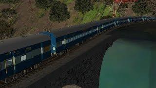 getlinkyoutube.com-MSTS Train Simulator Indian Railways Train passing Dudhsagar falls