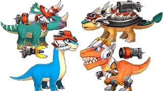 getlinkyoutube.com-DinoBot Corps - T-REX - Triceratops - Brachiosaurus - Ankylosaurus - 1080 HD
