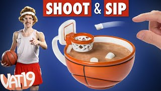 getlinkyoutube.com-Coffee mug with a basketball hoop!
