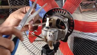How to Fix or Repair , Broken fan motor diagnosis for repair   Repair standding  fan
