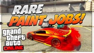 "GTA 5 Paint Jobs: Best Rare Paint Jobs Online! (Lava, Crush, Coral, Candy) ""GTA 5 Secret Paint Jobs"""