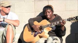 """getlinkyoutube.com-Amazing Venice Beach Homeless Girl on Guitar """"Voices in the Sand"""""""