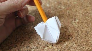 getlinkyoutube.com-How to make an origami dreidel