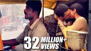getlinkyoutube.com-Mumbai Autowallas On Couples Kissing In Rickshaw