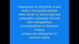 Minnale - Vaseegara Lyrics