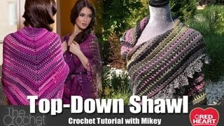 getlinkyoutube.com-Crochet Top Down Shawl Tutorial with Mikey from The Crochet Crowd