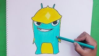 getlinkyoutube.com-Dibujando y coloreando Torpedo (Bajoterra) - Drawing and coloring Torpedo