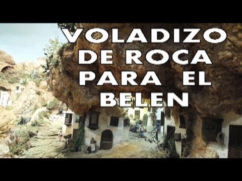 DIY COMO HACER MONTAÑAS DE PIEDRA EN VOLADIZO PARA EL BELEN