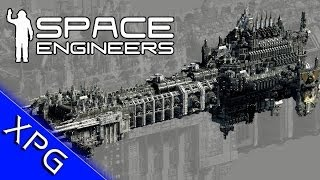 getlinkyoutube.com-Space Engineers :Warhammer 40k Battleship Thunderhawk dropship (Community Build)