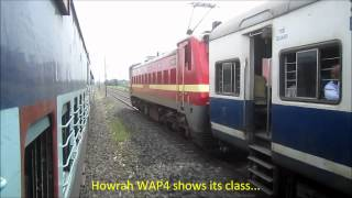 getlinkyoutube.com-High Speed Parallel Action on Indian Railways: NJP Shatabdi and Patna Jan Shatabdi Overtakes