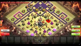 getlinkyoutube.com-Diseño aldea de guerra TH9 muy rara - Clash of Clans gameplay