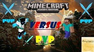getlinkyoutube.com-Noob VS Pro- PVP (Minecraft PE Machinima)