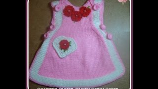 getlinkyoutube.com-Вязаный сарафан для девочки.Часть 2. Knitted dress for girl