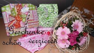 getlinkyoutube.com-Geschenke ♥ Schnell und originell verpacken =)