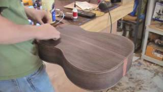 getlinkyoutube.com-Build a Guitar, Part 10, Bottom Bindings and Fretboard
