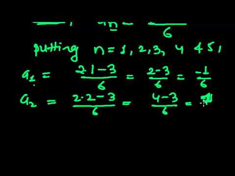 Sequences and Series Problems 1 - Finding First Five(5) Terms