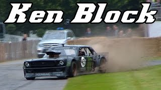 Ken Block's Hoonicorn Mustang at Goodwood 2015 (drifts and donuts)