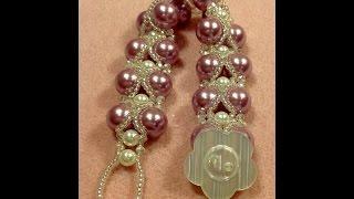 getlinkyoutube.com-Criss Cross Pearls Bracelet Tutorial