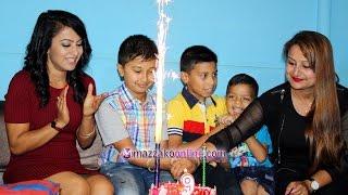 getlinkyoutube.com-Anuvab Regmi Birthday celebration    अनुभवलाई झरनाले दिईन् चलचित्र उपहार    Mazzako TV