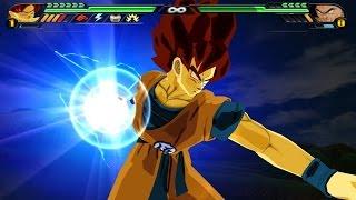 getlinkyoutube.com-Goku False SSJ VS Nappa with a scouter (DBZ Budokai Tenkaichi 3 Mod)