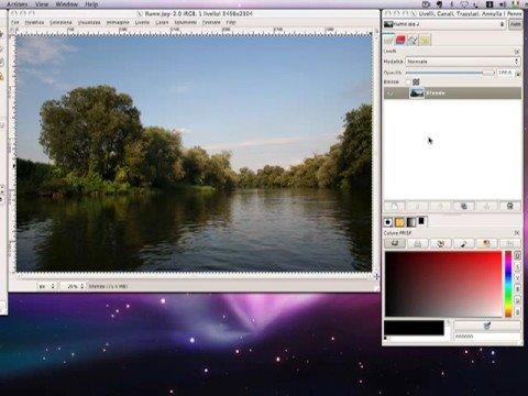 GIMP fotoritocco video tutorial - maschere di livello