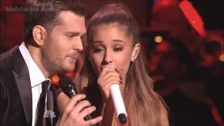 "getlinkyoutube.com-Michael Buble & Ariana Grande ""Santa Claus Is Coming To Town"""