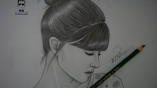 getlinkyoutube.com-تعلم رسم وجه فتاة بشكل جانبي مع الخطوات للمبتدئين ( بورتريه )