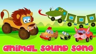 getlinkyoutube.com-Animal Sound Song | Nursery Rhymes | Kids Song | Car Rhyme