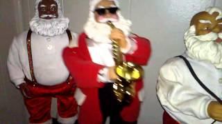 getlinkyoutube.com-Gemmy Dancing Santa's