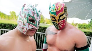 "getlinkyoutube.com-WWE Kalisto and Sin Cara(Lucha Dragons) ""Hello"" HD"