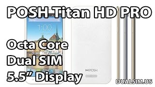 "getlinkyoutube.com-POSH Titan HD Pro E550a (Dual SIM, 5.5"" HD Display) Unboxing"