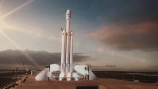 Falcon Heavy Animation width=