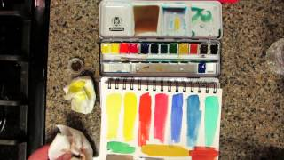 getlinkyoutube.com-Schmincke Watercolors Review & Demo