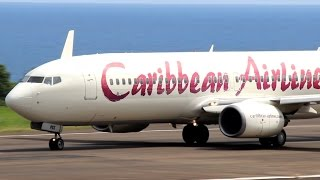 getlinkyoutube.com-Caribbean Airlines 737-800 in St Kitts (HD 1080p)