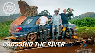 getlinkyoutube.com-Crossing the river - Top Gear Africa Special - Series 19 - BBC
