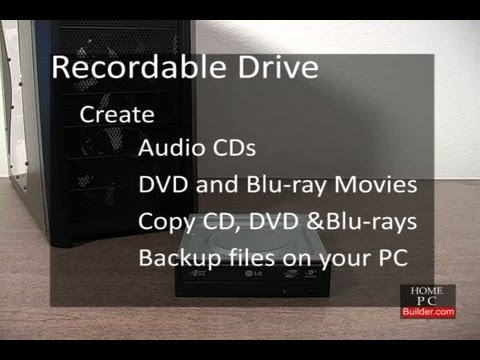 build your own computer 2011 - Section 1, Lesson 2, DVD and Bluray component