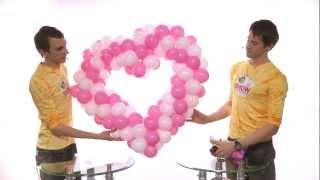 Как сделать сердце из шаров (heart made of balloons)