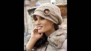 getlinkyoutube.com-Вязаные шапочки для женщин. Коллекция.