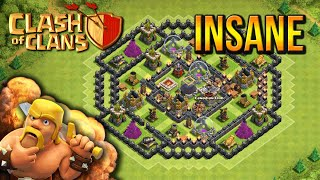 "getlinkyoutube.com-""INSANE DEFENSE!"" - Town Hall 8 HYBRID BASE (CoC TH8) BEST Base Layout 2015"