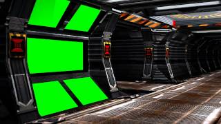 getlinkyoutube.com-Spaceship Background Coridor with red Alert and Sound A