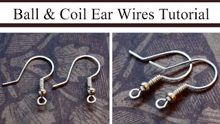 getlinkyoutube.com-How to Make Ball & Coil French Hook Ear Wires
