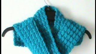 Crochet Riddle Stitch Scarf