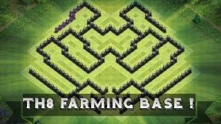 getlinkyoutube.com-Clash Of Clans | Th 8 Farming base ( Town Hall 8 Base Defence ) ( havoc )